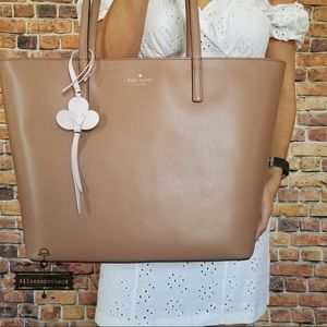 Kate Spade Kelsey Tote Toasty Brown Leather NWT